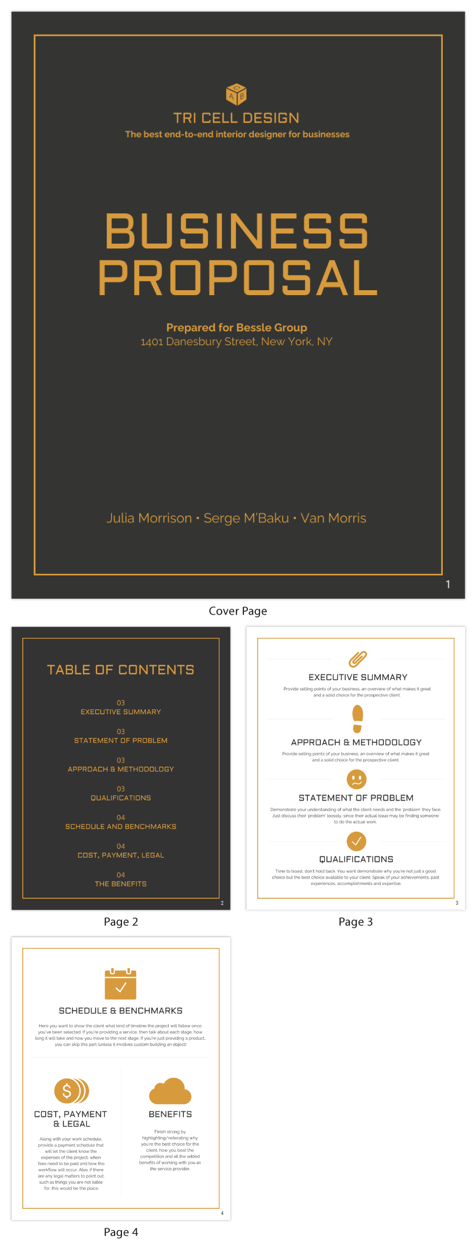 general business proposal template venngage