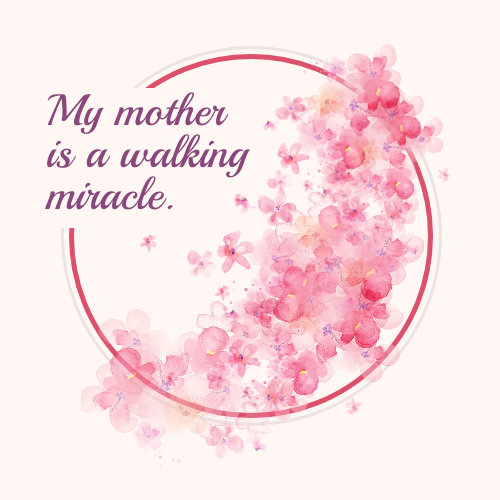 Pink Mother's Day Card Template