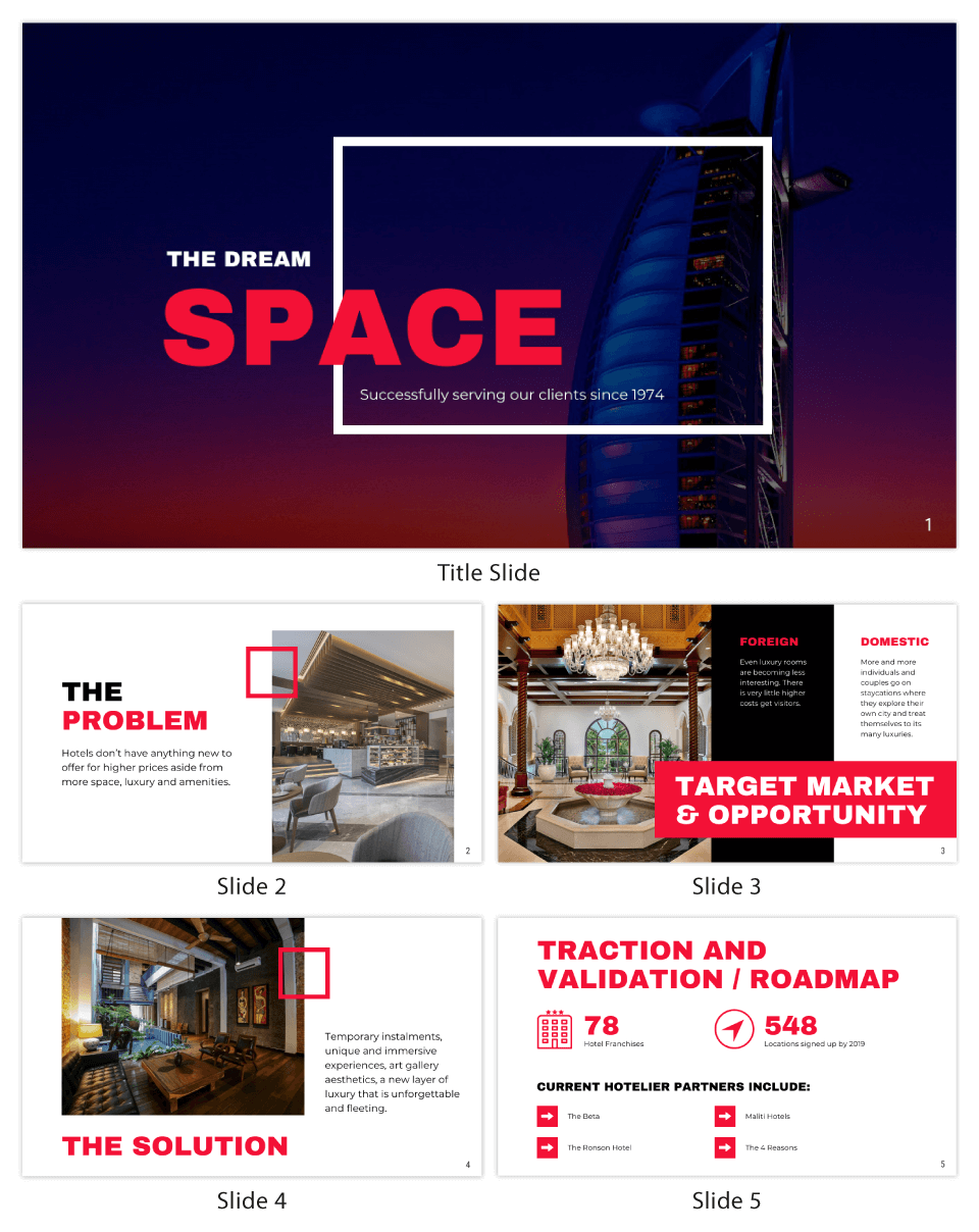 Red Investor Pitch Deck Template