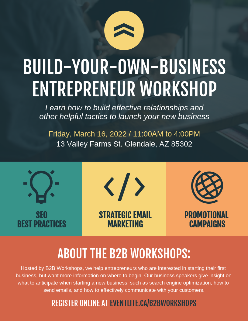 Business Entrepreneur Workshop Event Poster Template