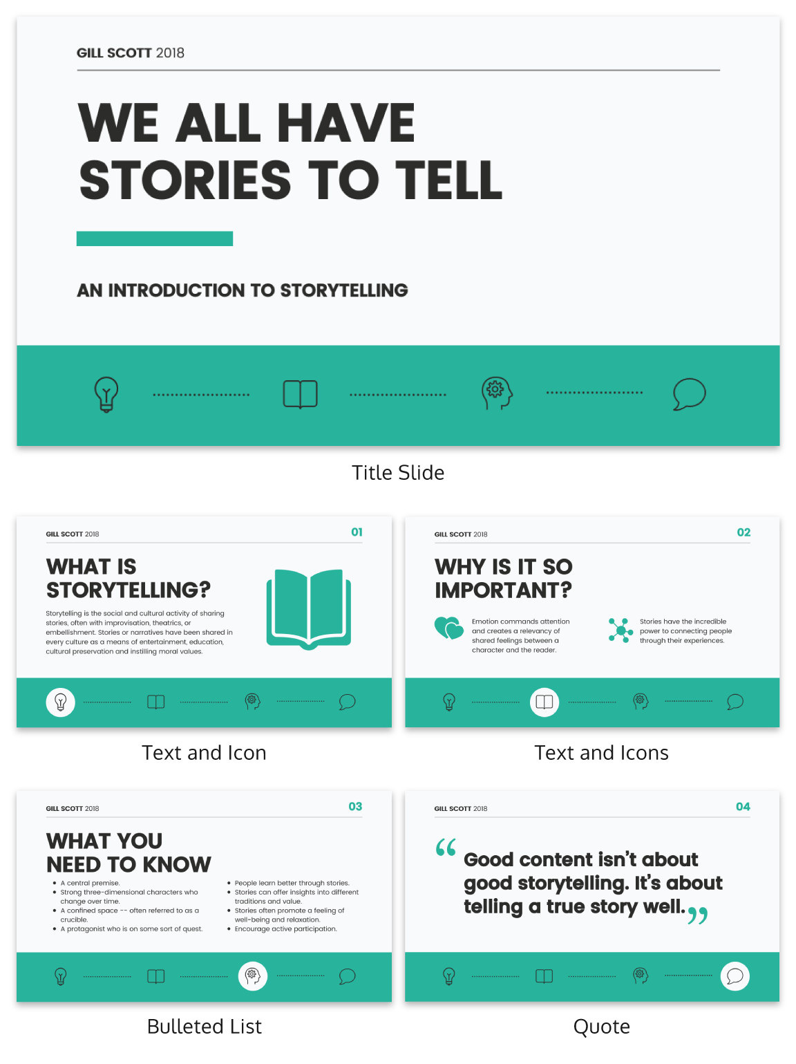 Storytelling Business Presentation Template