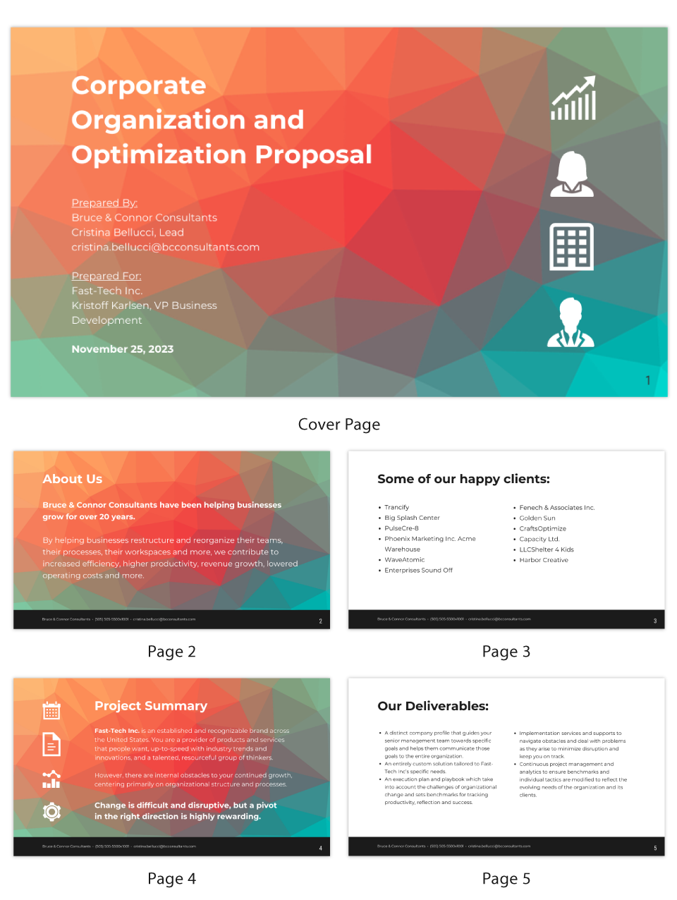 Contrast Business Consulting Presentation Template