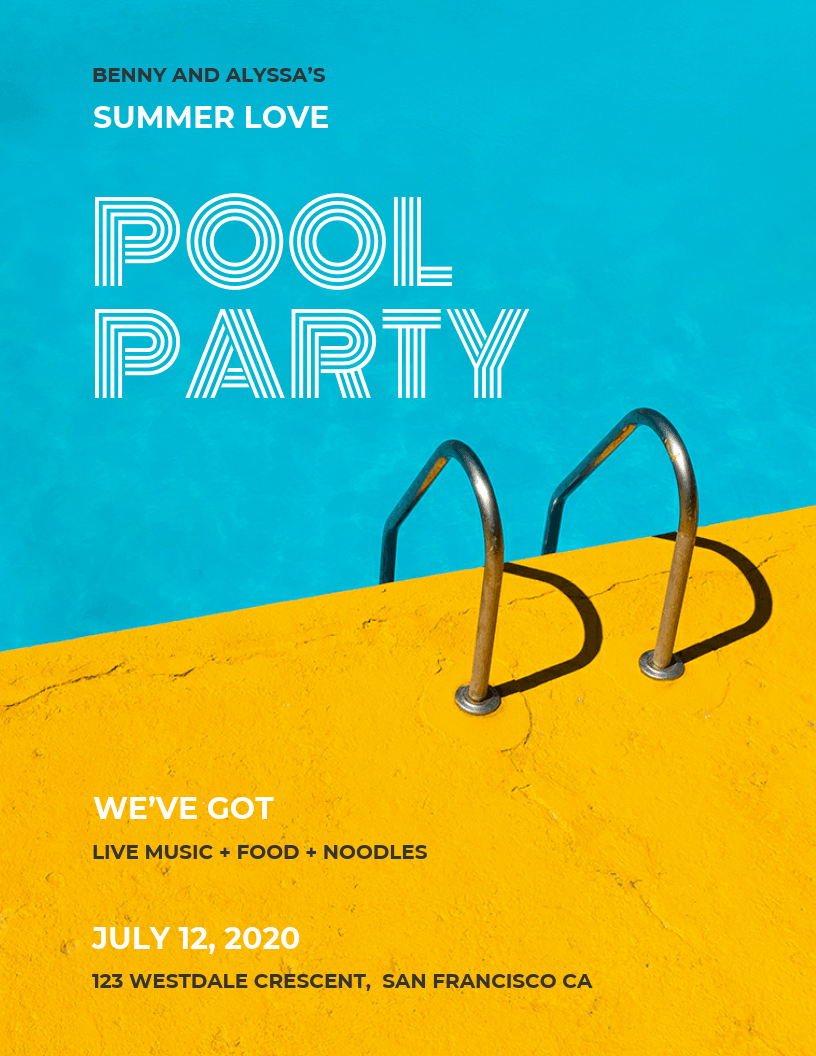 Pool Party Flyer Template - Venngage