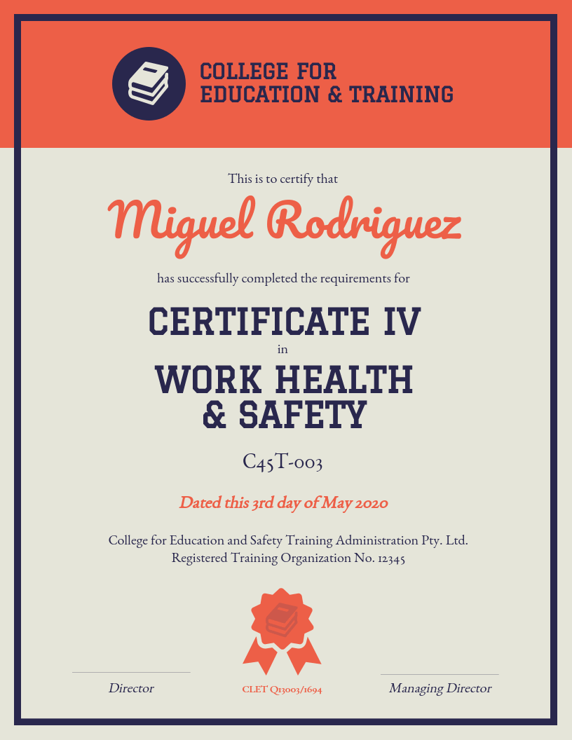 training certificate template venngage