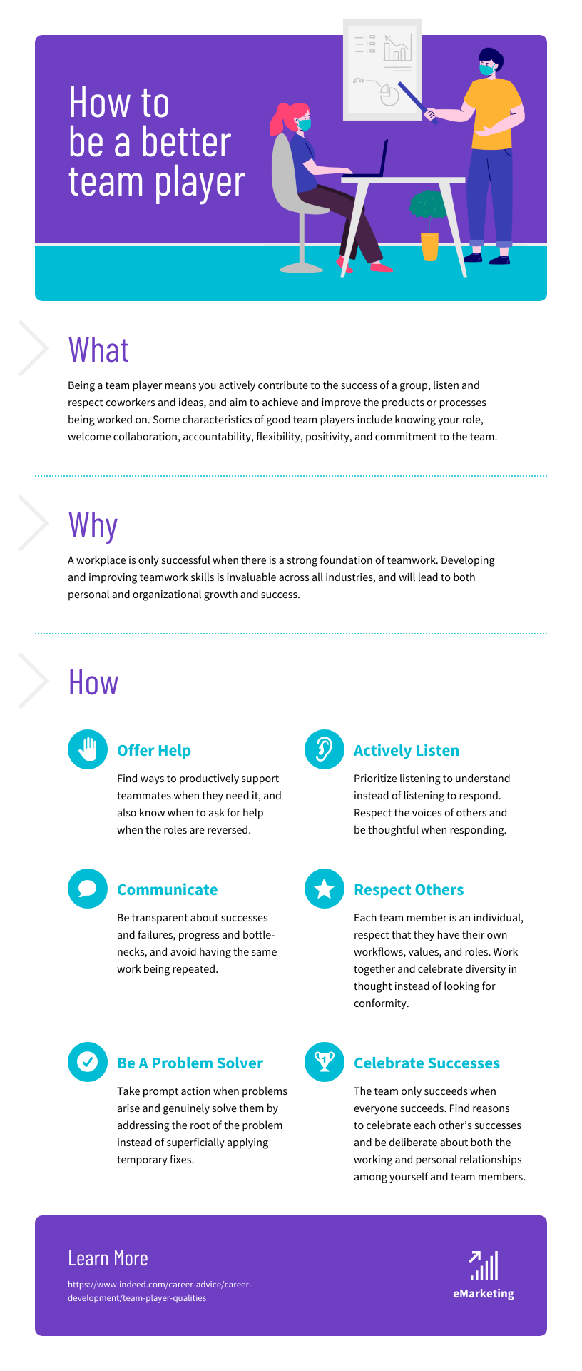 Team Player Microlearning Infographic Template