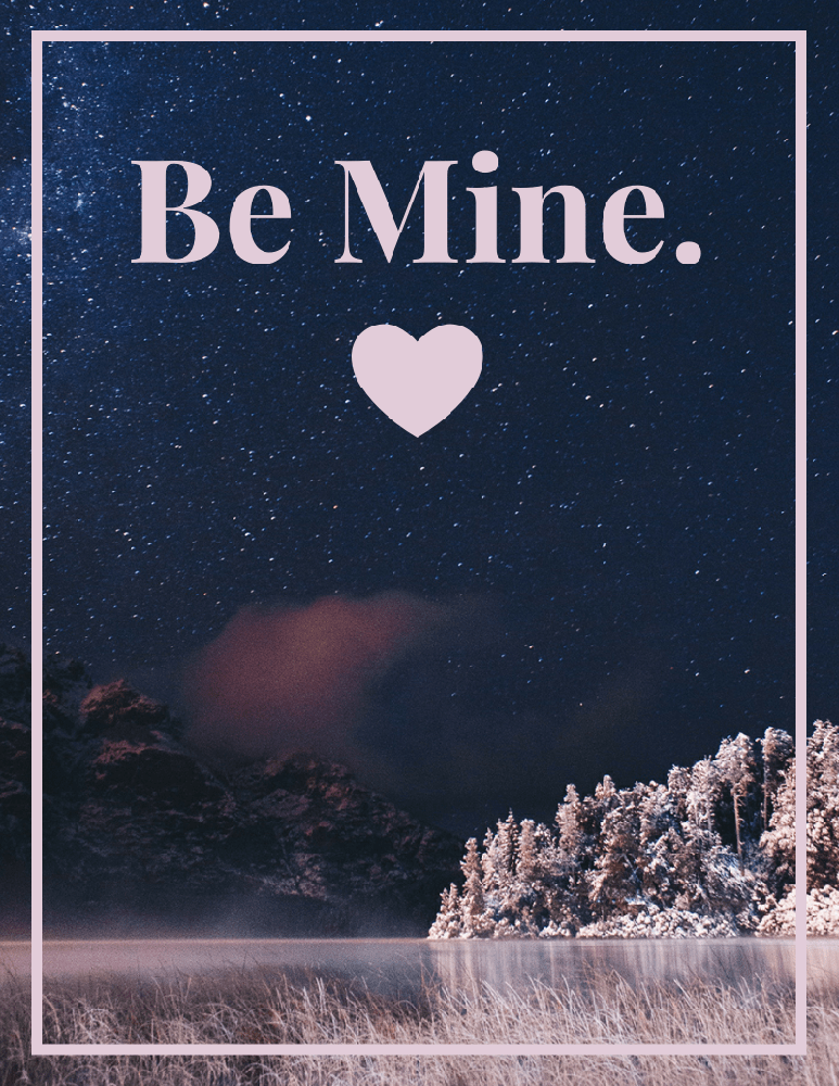 Be My Valentine Card Template