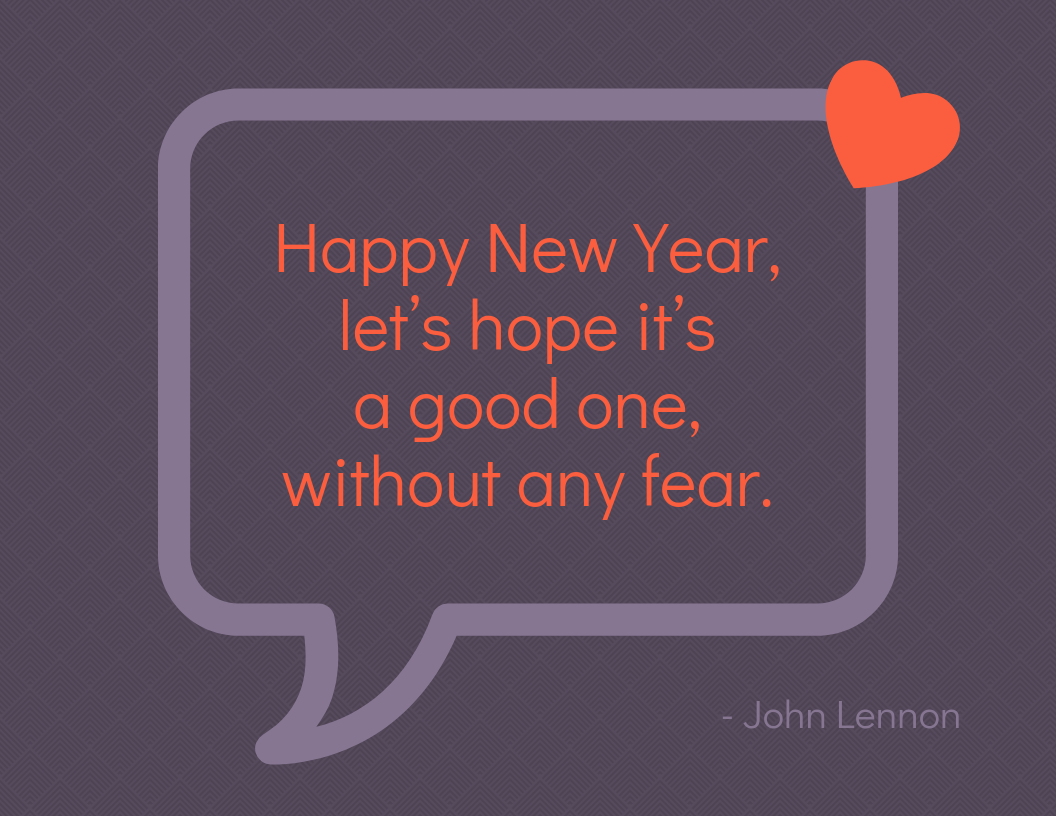 Quote New Year Card Template