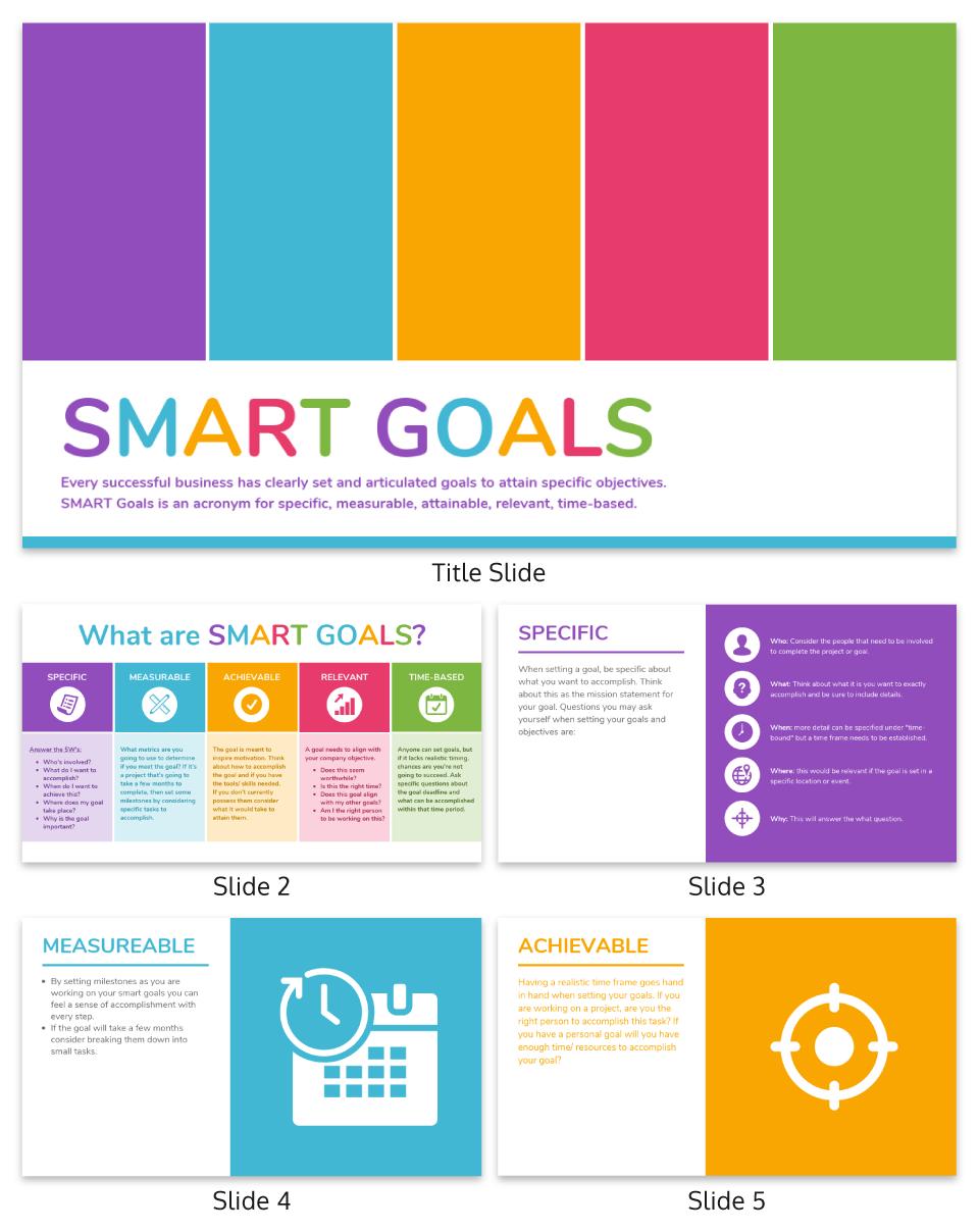 Colorful Smart Goal Presentation Template