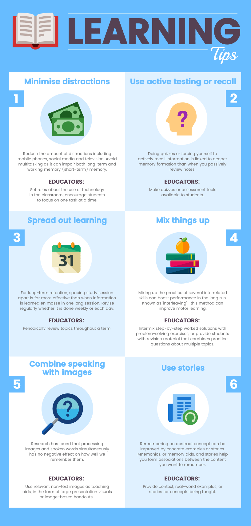 Learning Tips Infographic Template