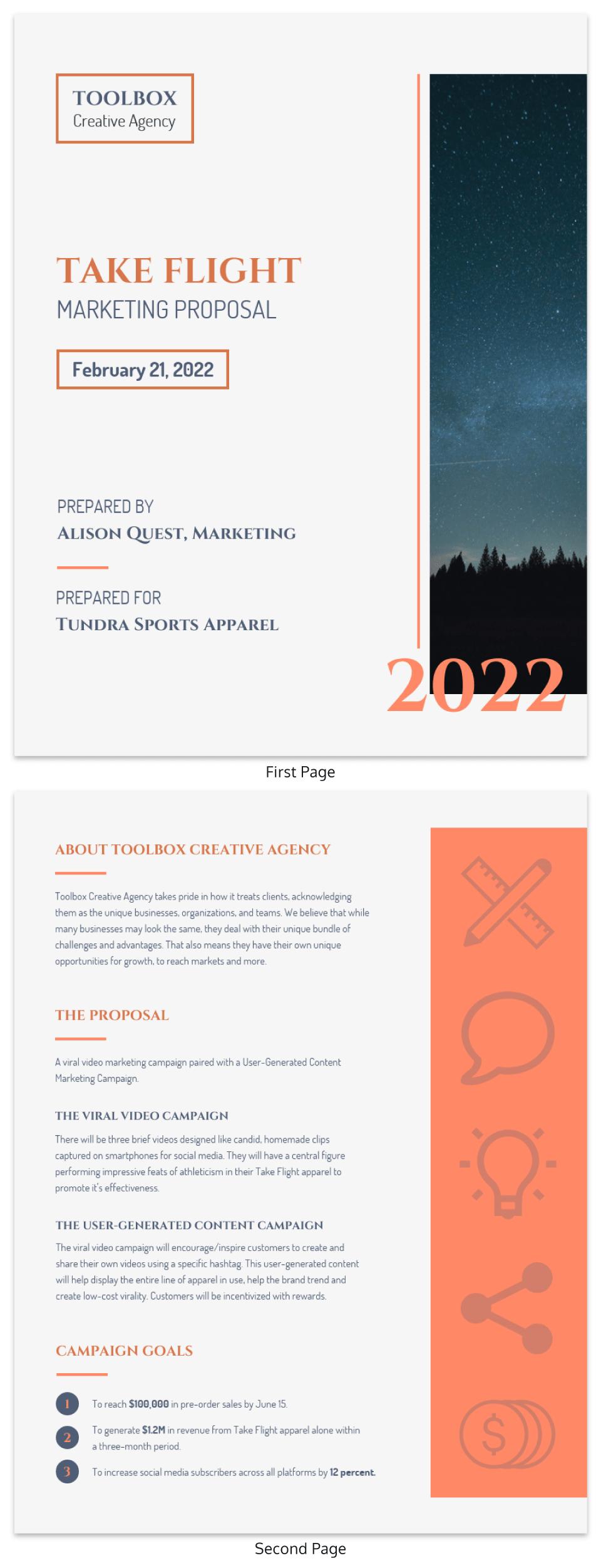 Bronze Modern Marketing Proposal Template