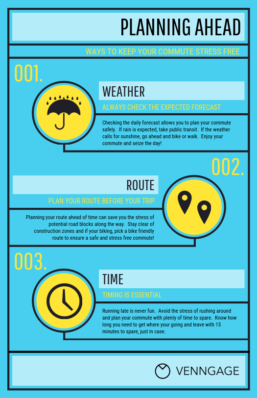 Blue Stress Management Infographic Template