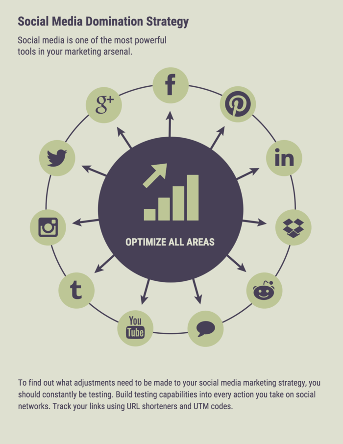 Social Media Process Infographic Template