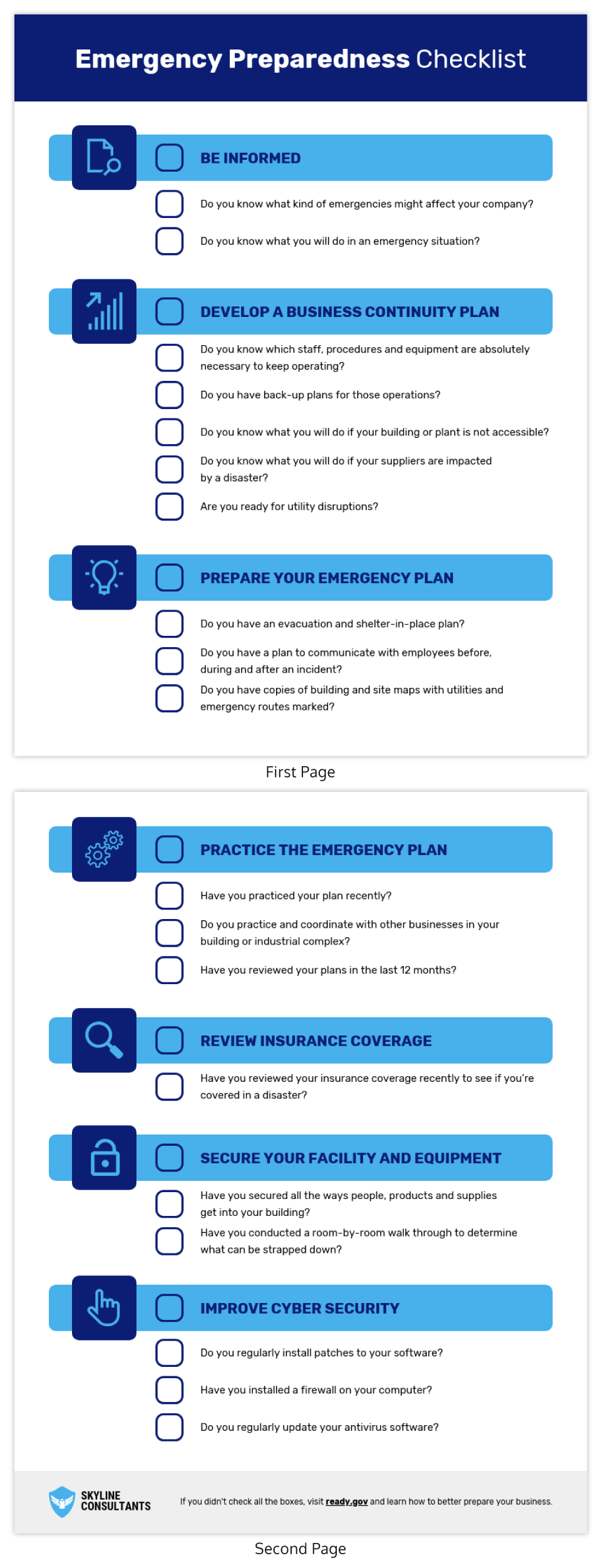 Emergency Preparedness Checklist Template