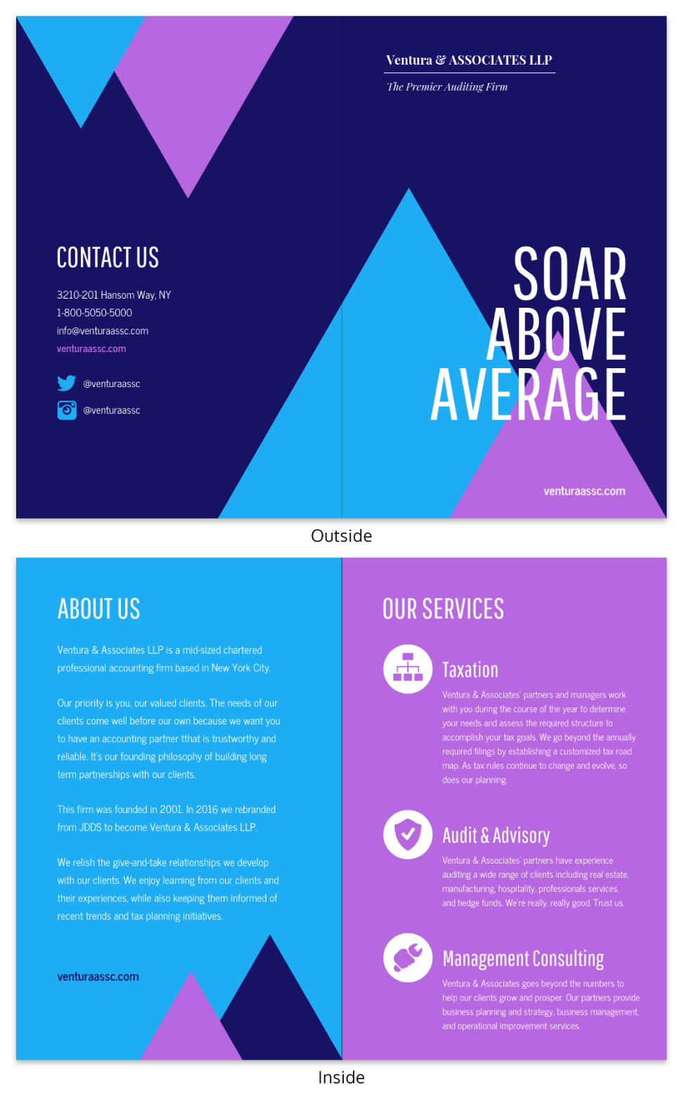 Dark Modern Marketing Bi Fold Brochure Template