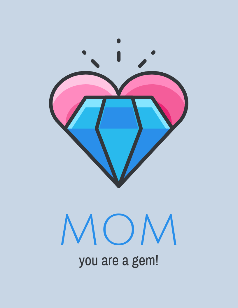 Cute Mother's Day Card Template