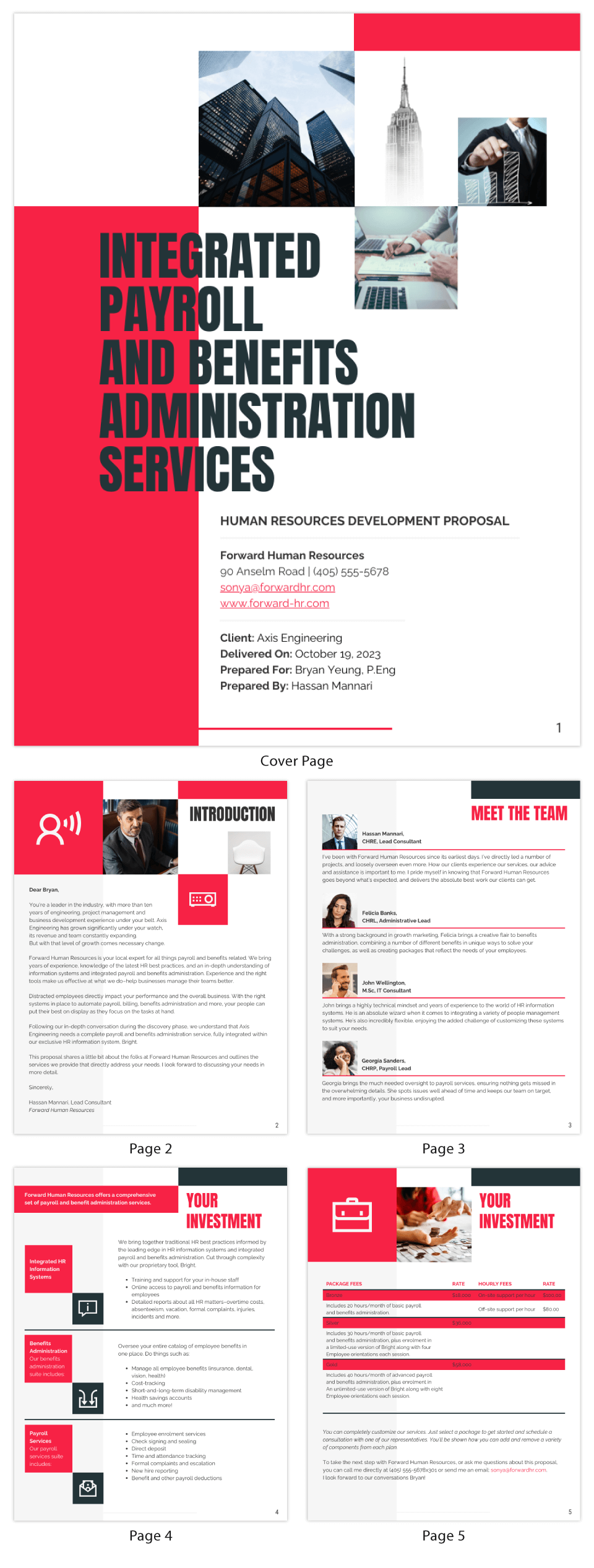 Red Human Resources Consulting Proposal Template