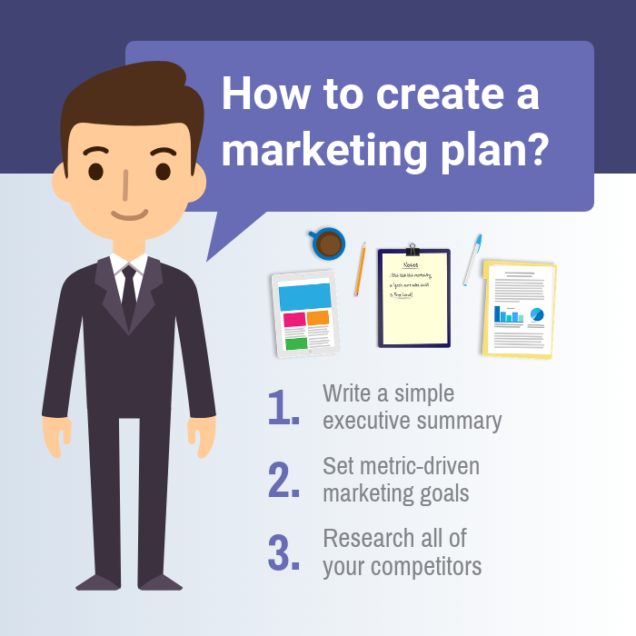 Purple Marketing Plan Instagram Post Template