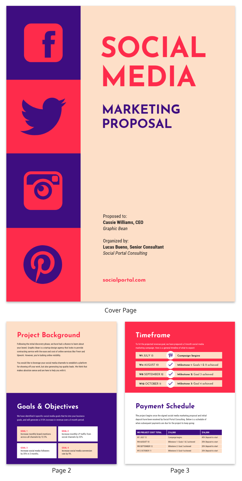 Vintage Social Media Consulting Proposal Template
