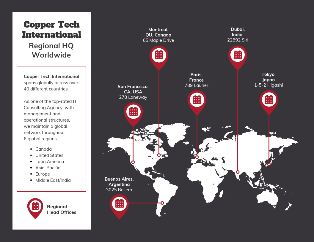 Company Locations Map Template