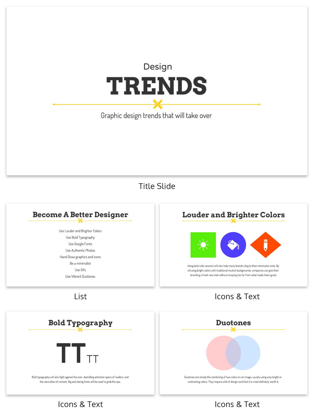 White Creative Presentation Template