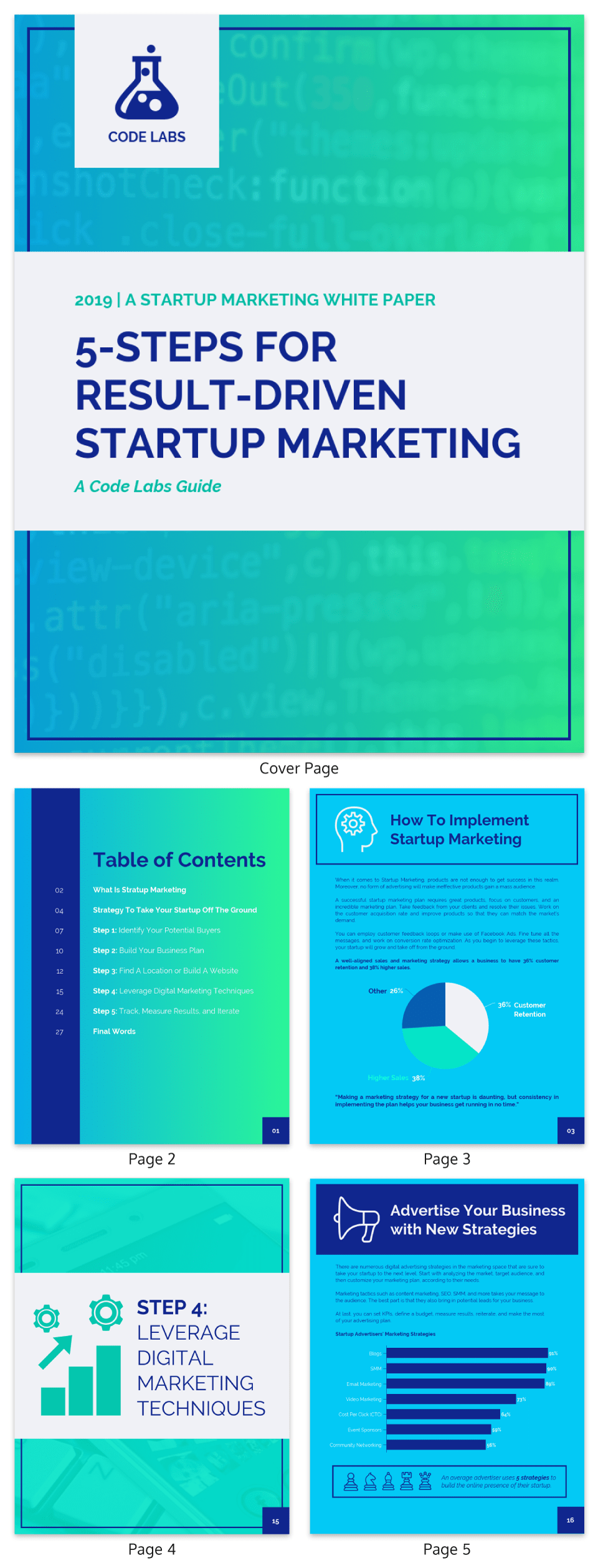 Gradient Startup Marketing White Paper Template