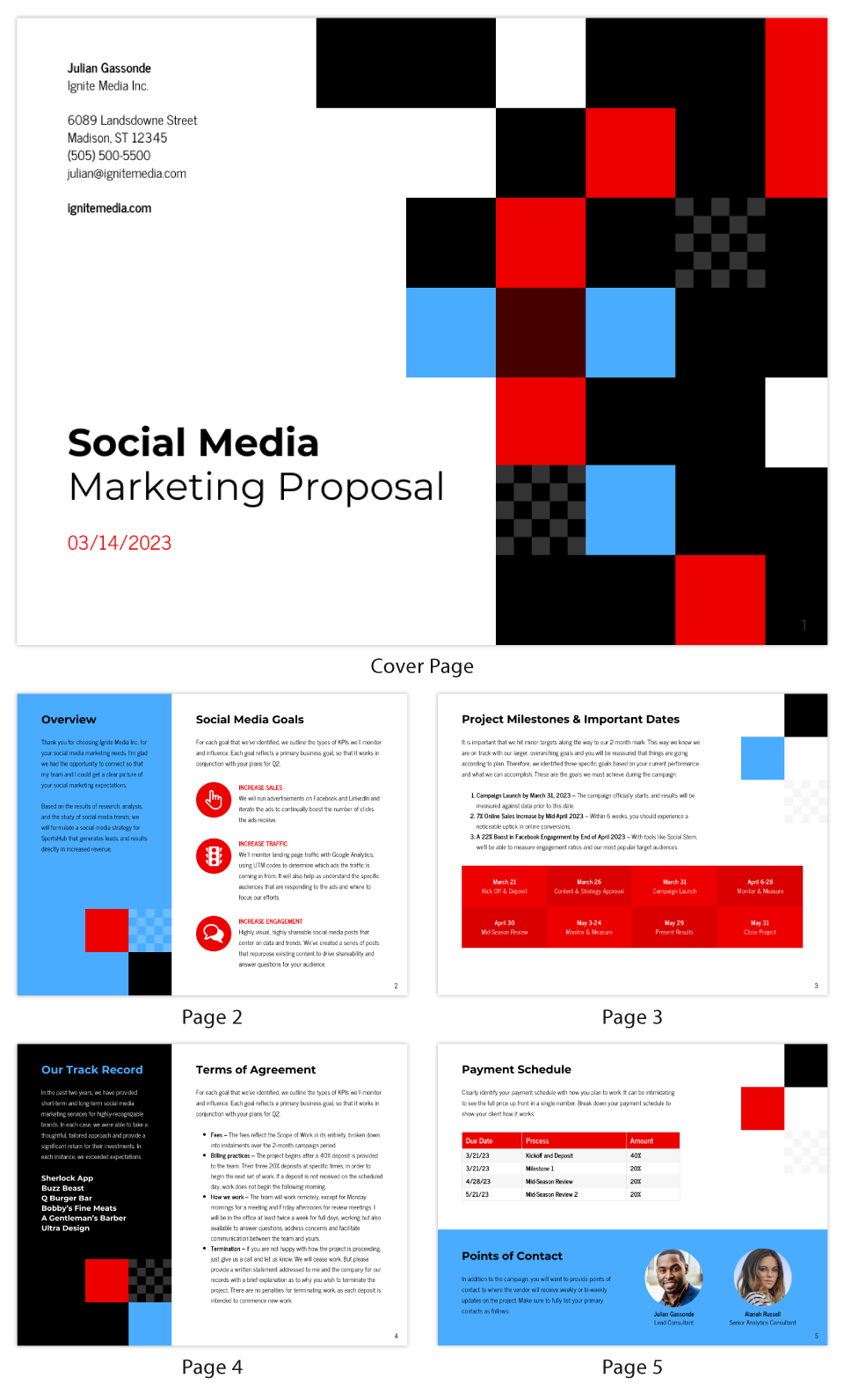 Checkered Social Media Marketing Proposal Template