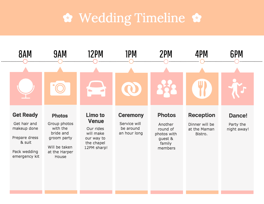 Wedding Timeline Infographic Template