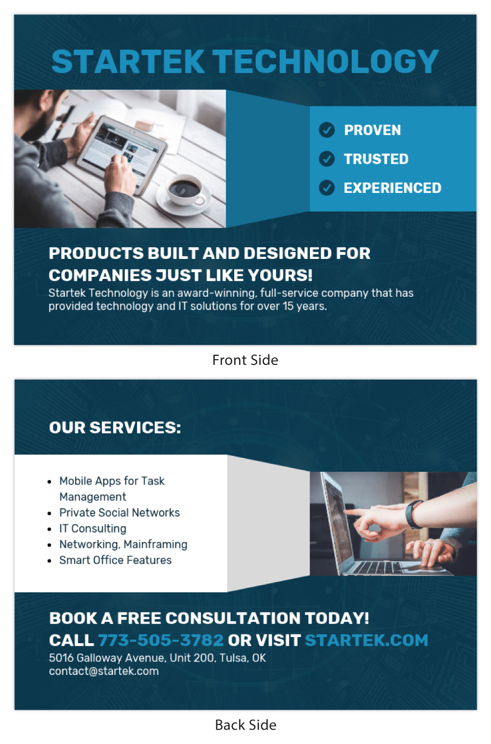 B2b It Services Company Postcard Template