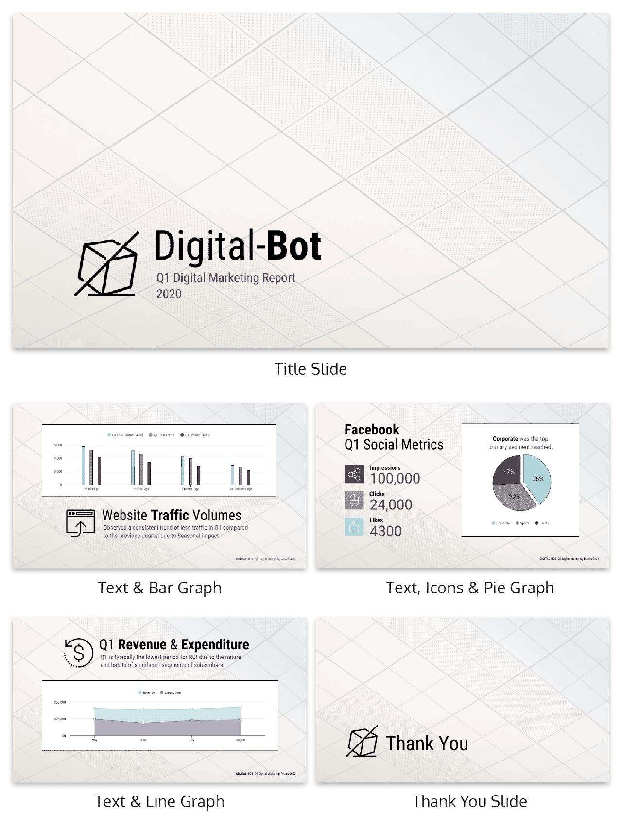 Quarterly Digital Marketing Report Business Presentation Template