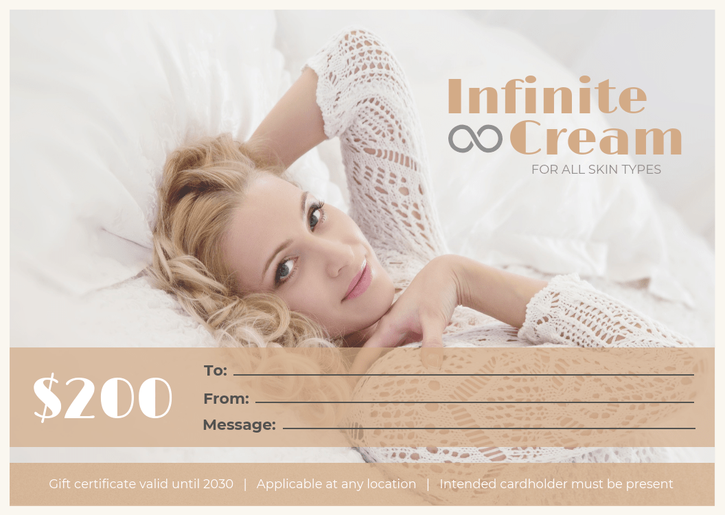spa gift certificate template template venngage