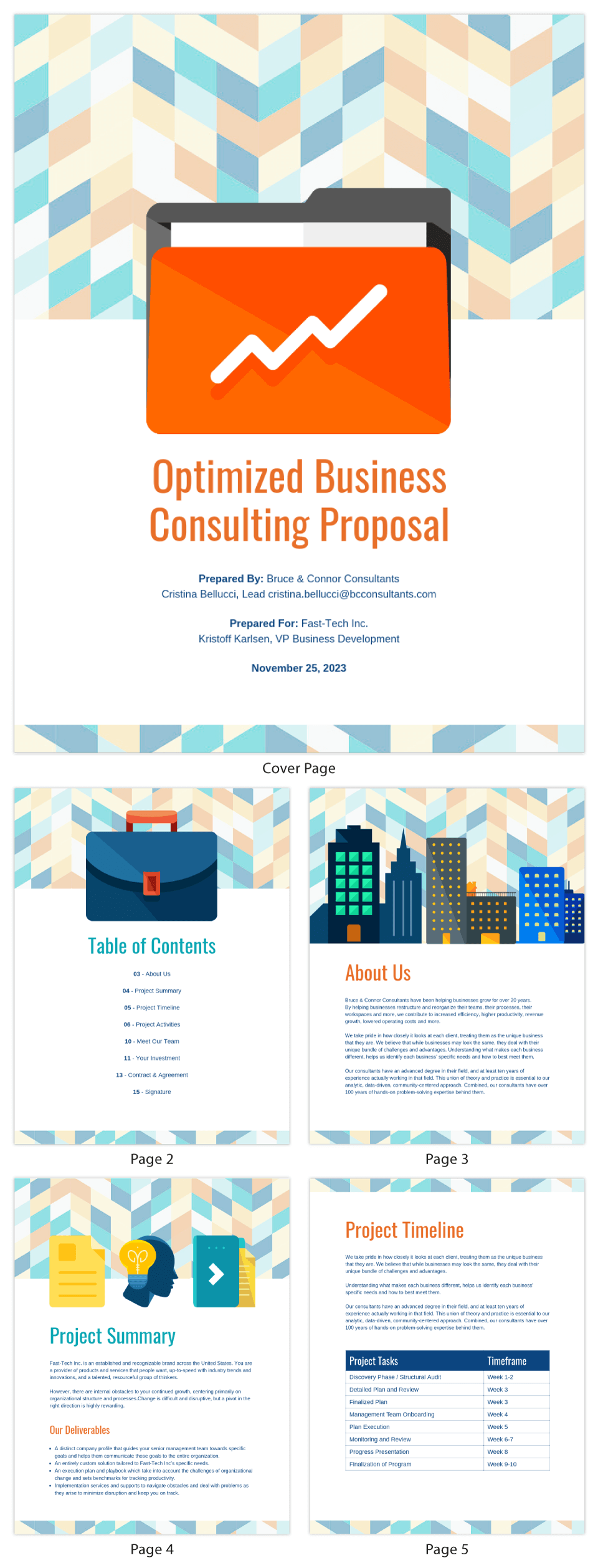 Abstract Business Consulting Proposal Template