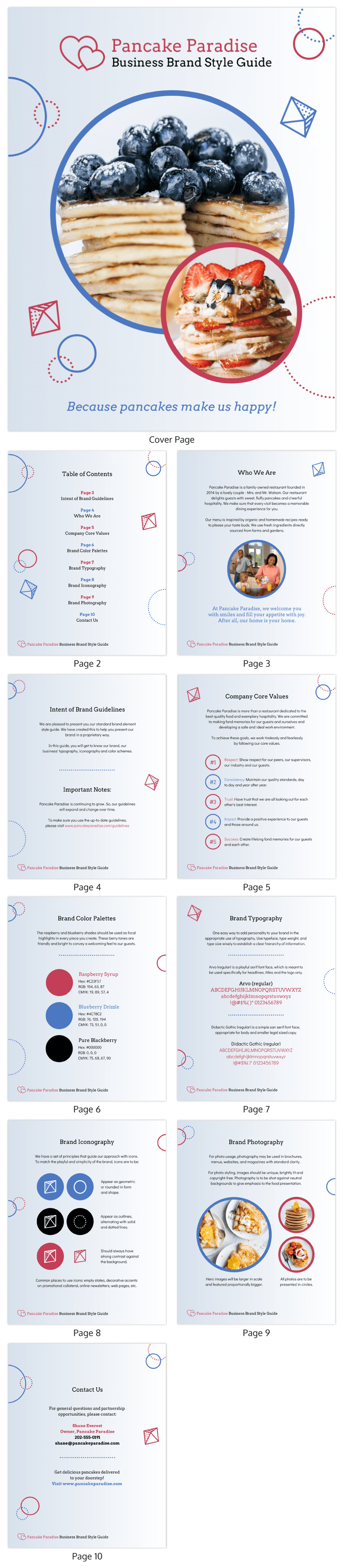 Business Restaurant Brand Style Guide Ebook Template