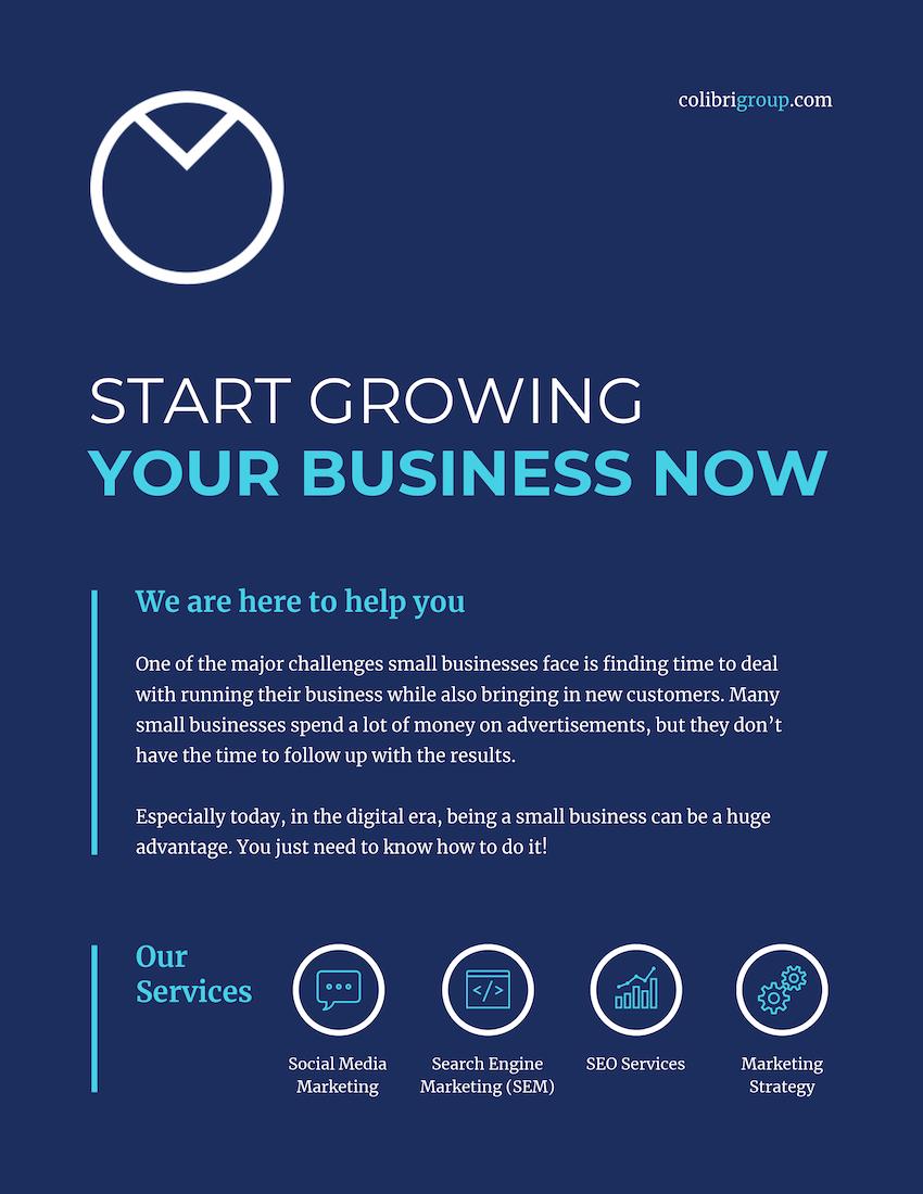 Modern Corporate Marketing Flyer Template