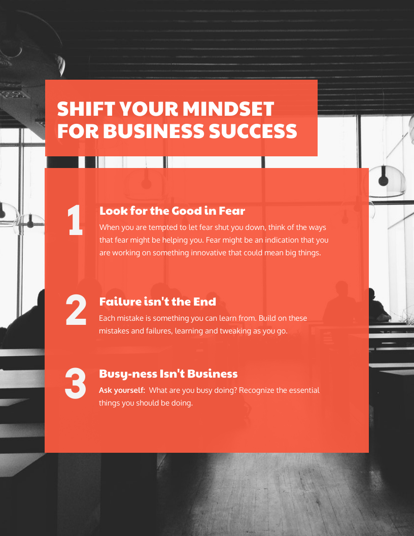 3 Ways for Success Business Flyer Template