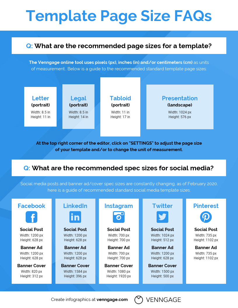 Templates Page Size Faqs Infographic Template