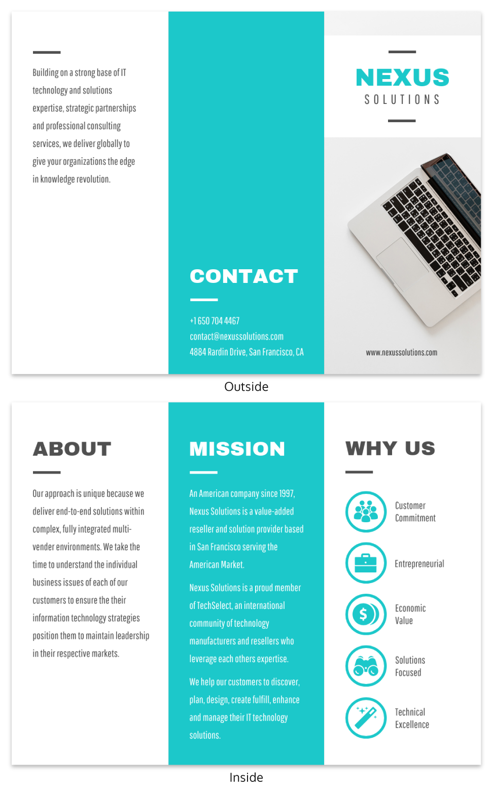 Technology Tri Fold Brochure Template Template Venngage