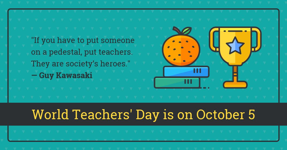Inspirational World Teachers Day Quote Linkedin Post Template