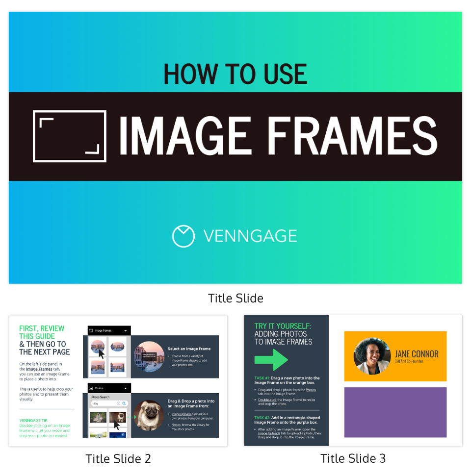 Image Frames Tutorial Infographic Template