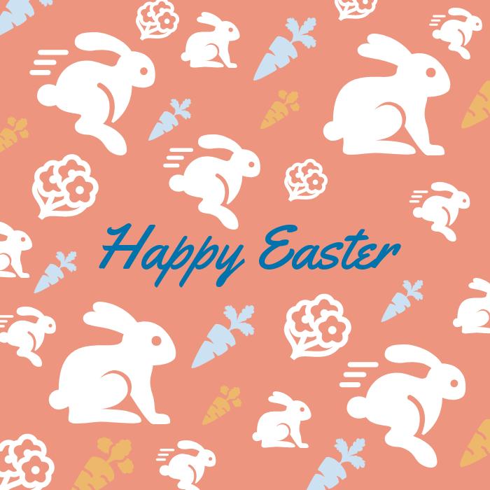 Happy Easter Pattern Instagram Post Template