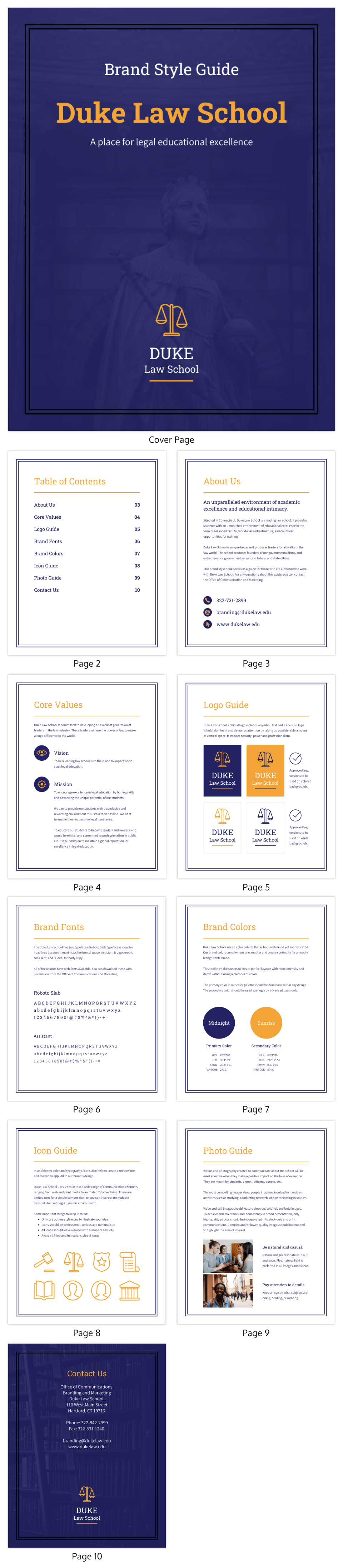 Law Brand Guide eBook Template