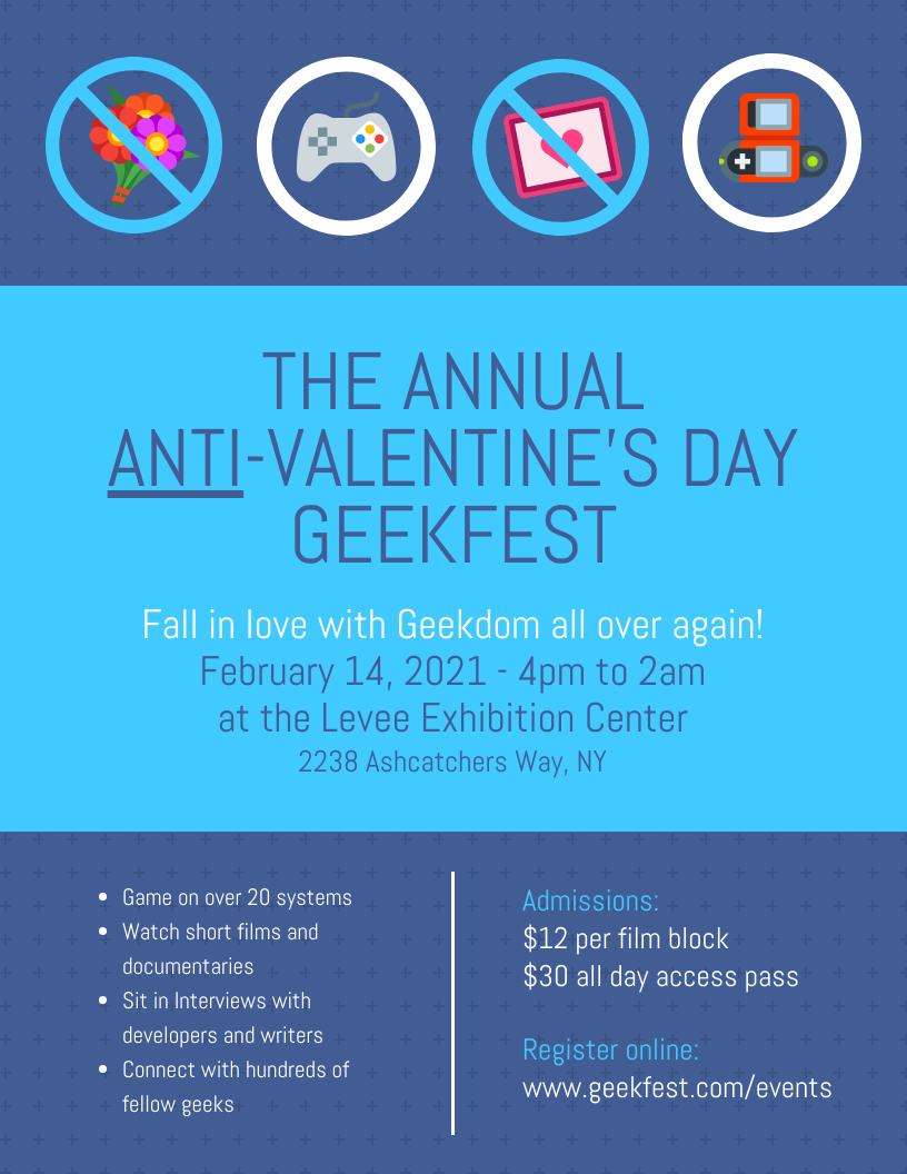 Anti-Valentine's Day Event Flyer Template