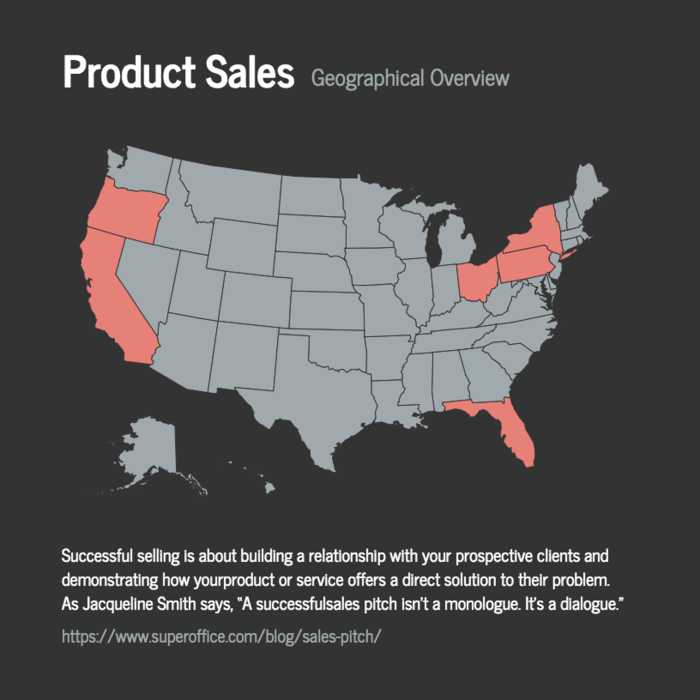 Product Sales Map Template