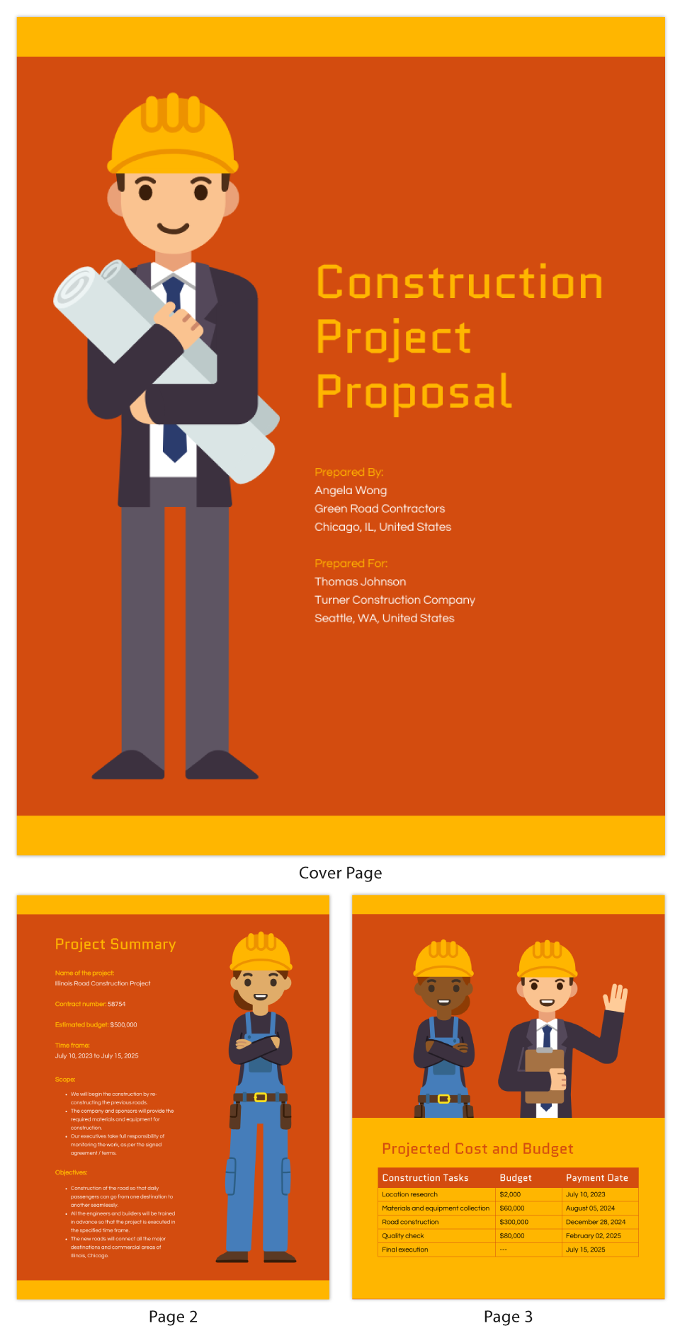 Visual Construction Project Proposal Template