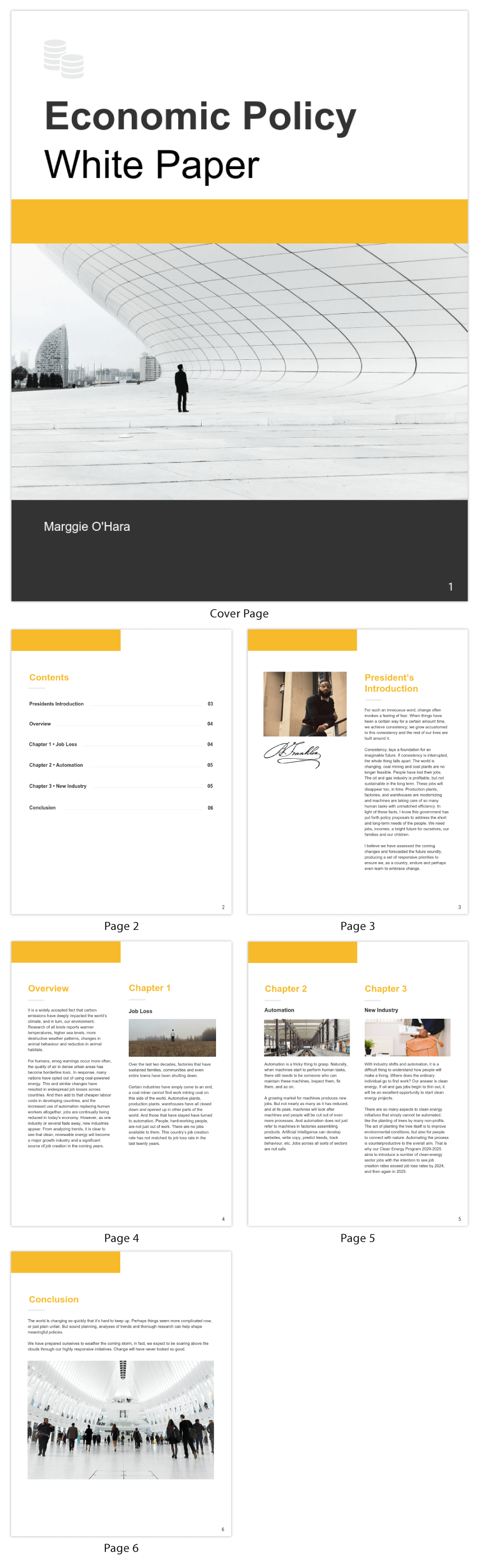 Policy White Paper Template