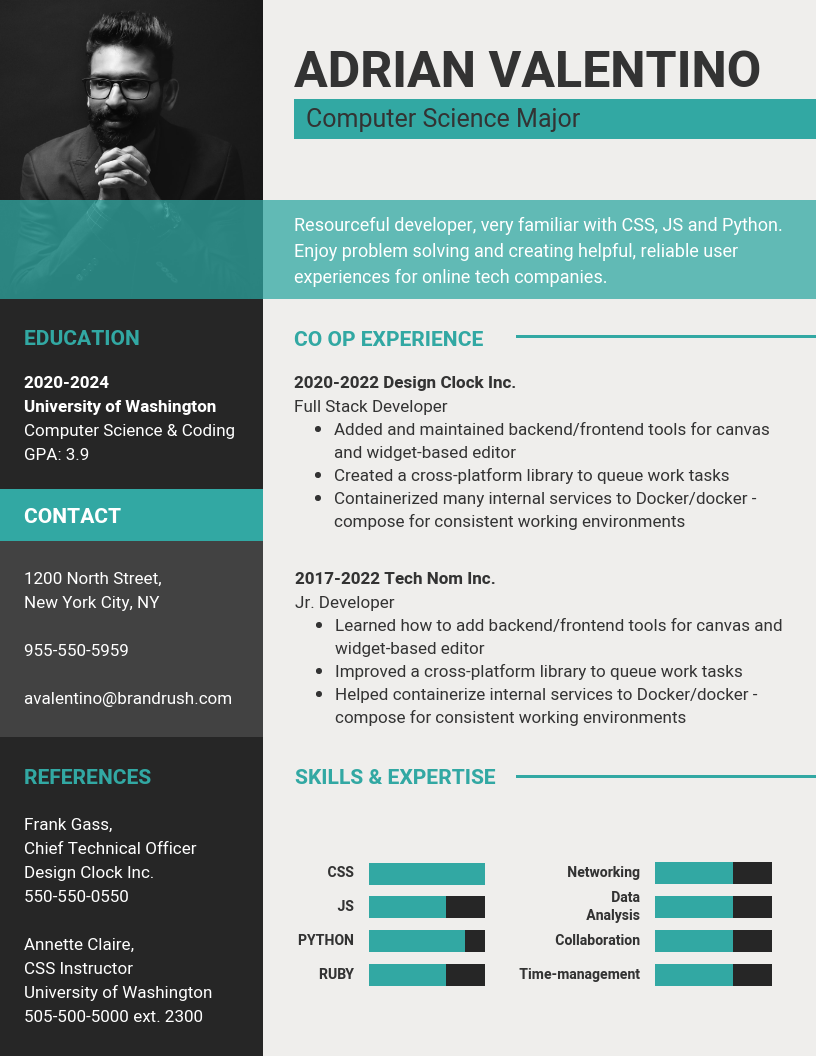 Computer Science Cv Template from s3.amazonaws.com