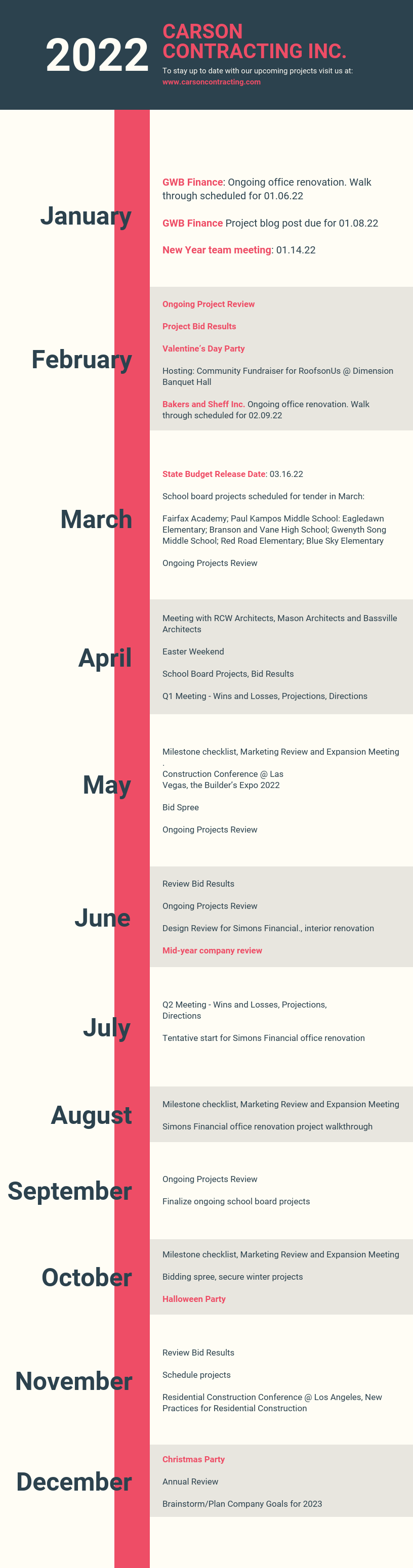 Heavy Monthly Timeline Infographic Template