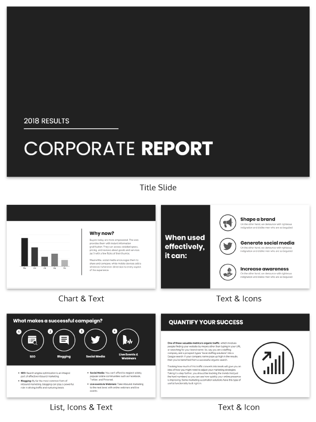 Dark Business Presentation Template