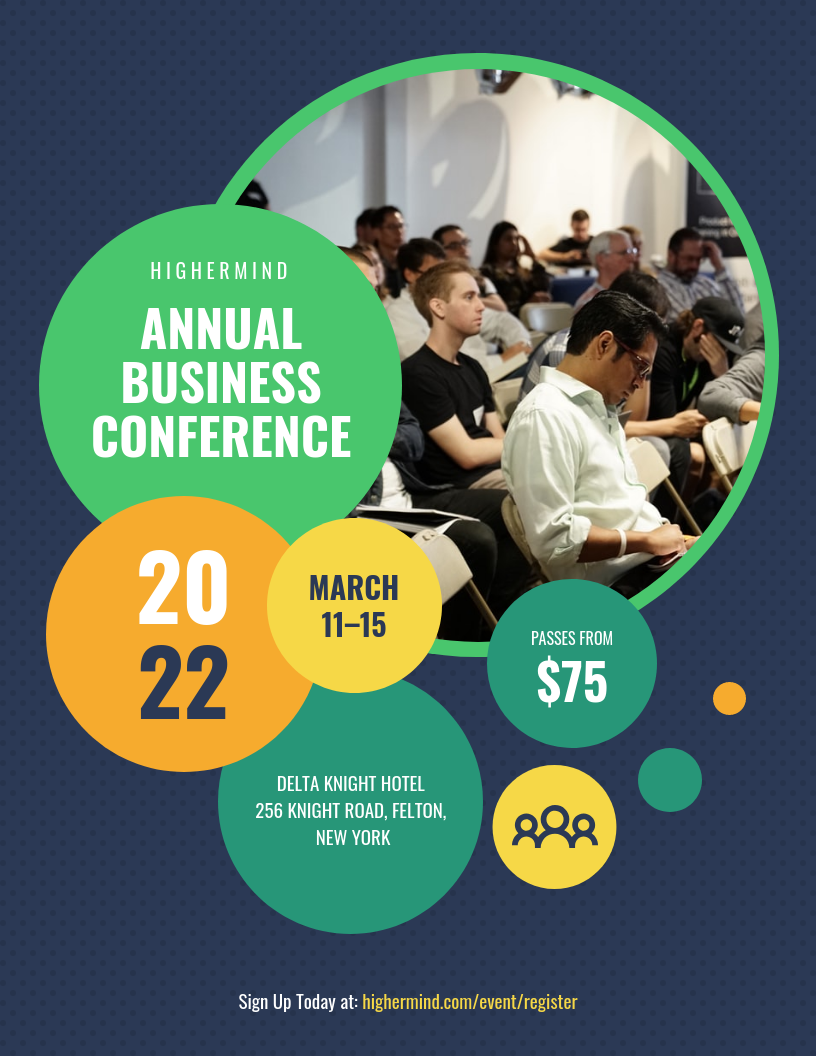 Annual Business Conference Event Poster Template