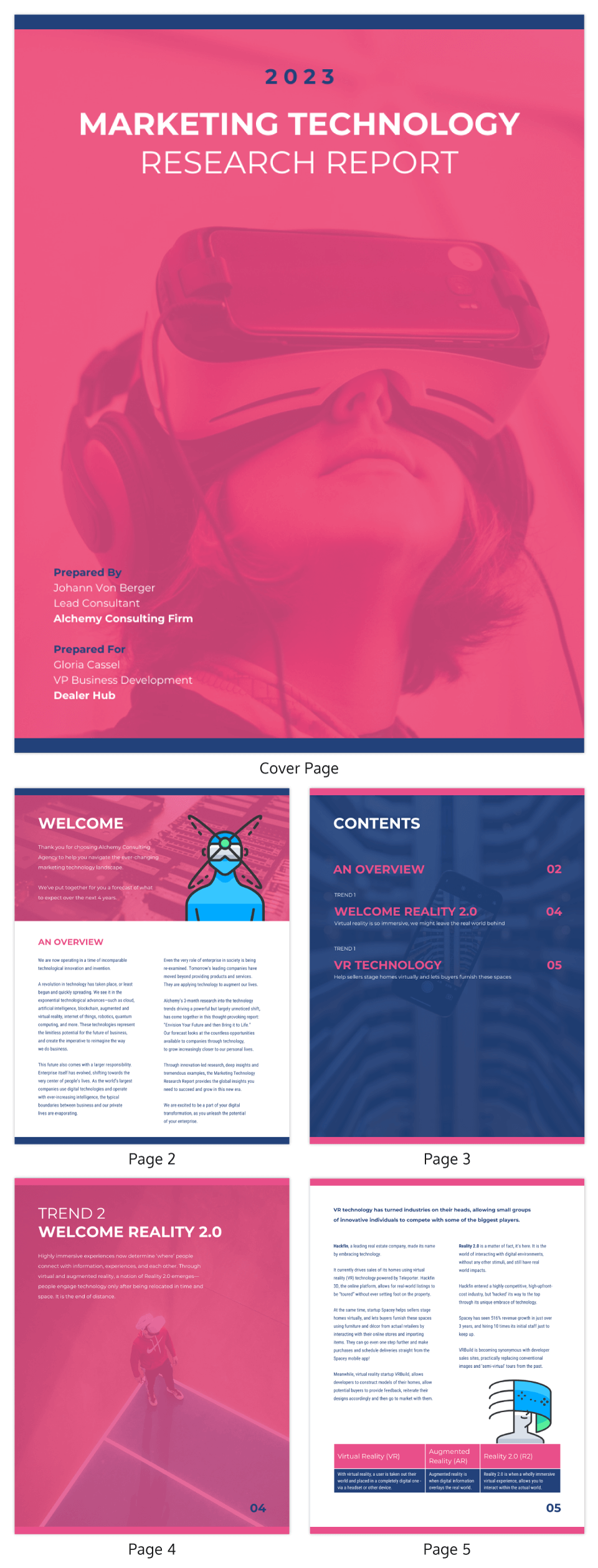 Bold Marketing Technology Trends Industry Report Template