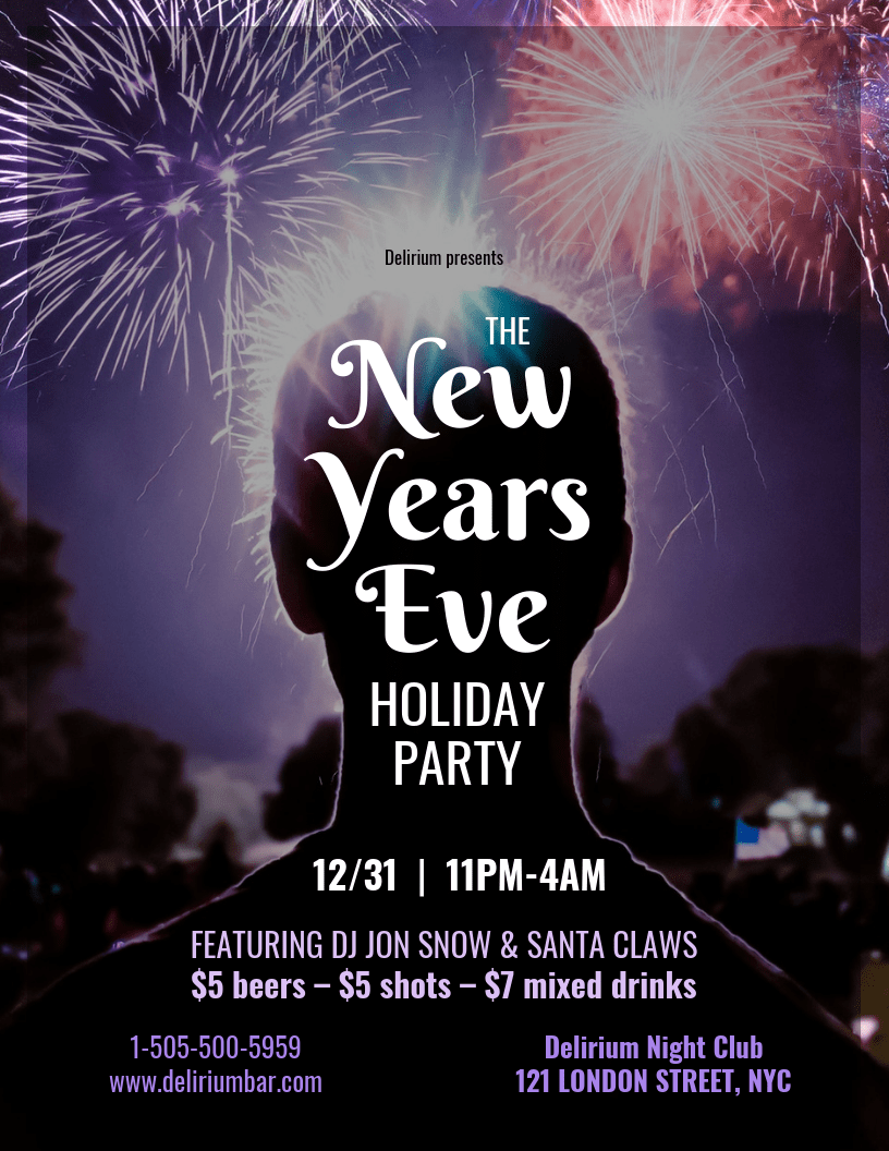 Creative New Year's Eve Party Flyer Template